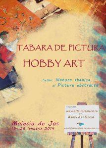 afidsul taberei de pictura hobby art organizata de Arbex Art Decor