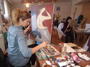 Oana Maria Paul in Tabara de pictura Hobby Art