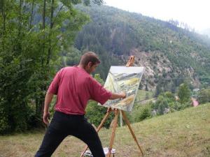 Tabara de pictura Hobby Art despre pictorul Kerekes Rares
