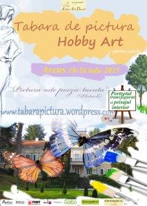 Afisul taberei de pictura Hobby Art 2015 de la Arcus