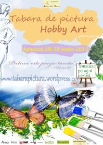 Afisul taberei de pictura Hobby Art din Apuseni