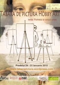 afisul Taberei de pictura Hobby Art editia de iarna 2015