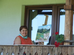 Cornelia Vasiloiu in Tabara de pictura Hobby Art
