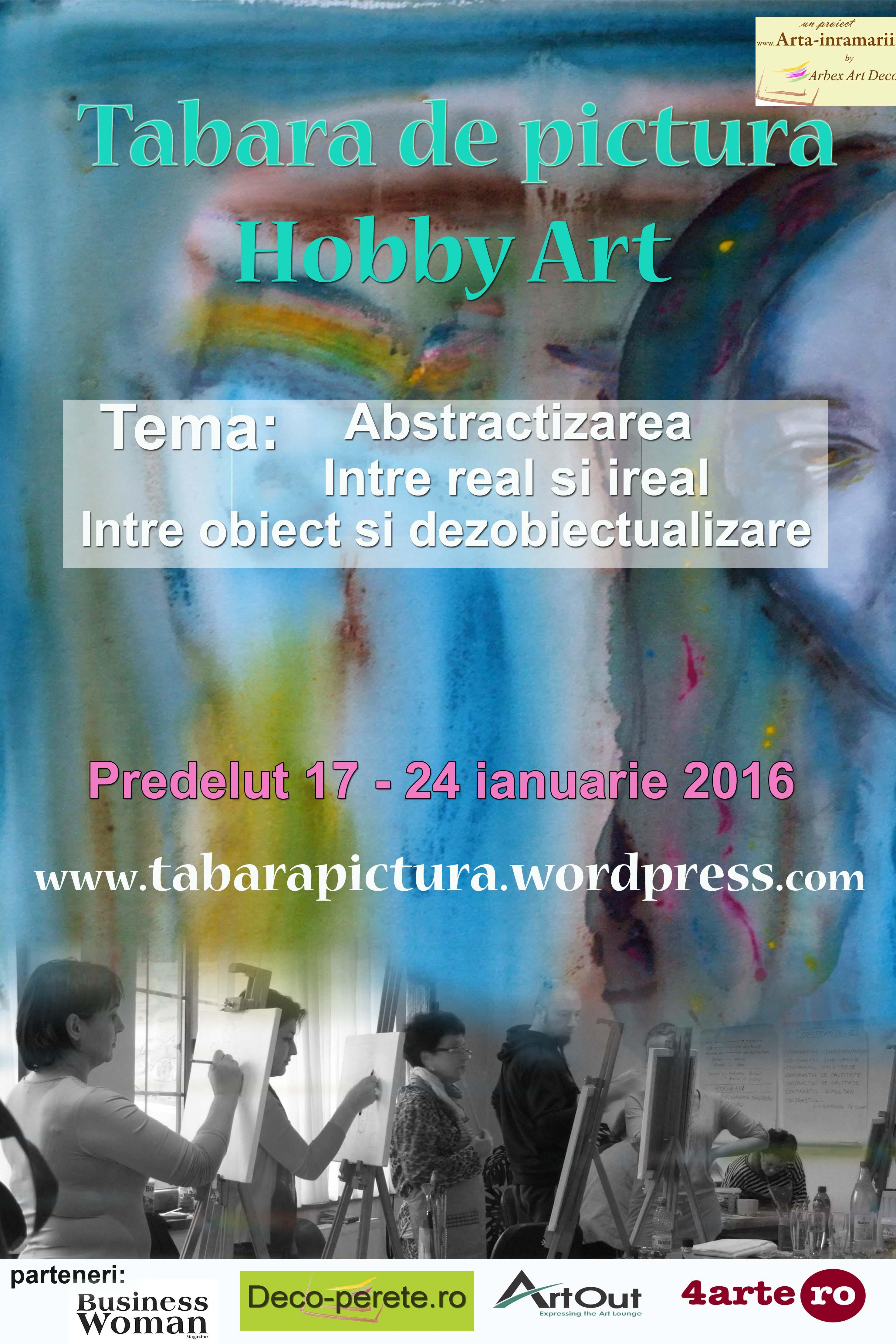 afisul Taberei de pictura Hobby Art editia de iarna 2016