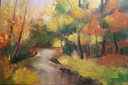Pictura Mihaela Baci in Tabara de initiere Hobby Art