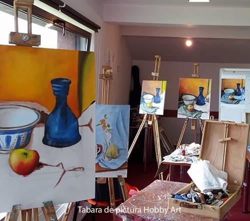 Tabara de pictura Hobby Art pentru incepatori te ajuta sa inveti sa pictezi