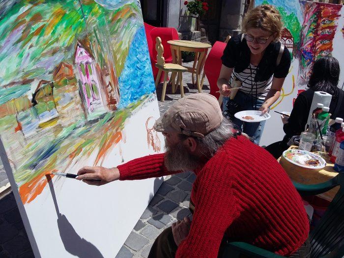 Atelier de pictura la Strada dell'Arte 2017 propus de Tabara de pictura Hobby Art