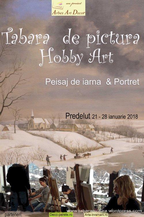 Tabara de pictura Hobby Art editia de iarna 2018- seria din ianuarie