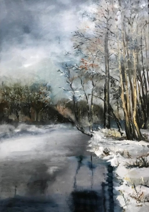 Picturi Liana Stanescu in Tabara de pictura Hobby Art 2018