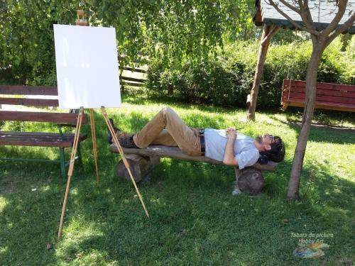 Adrian Stoian ( Aran) in Tabara de pictura Hobby Art