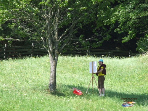 Adrian Stoian in Tabara de pictura Hobby Art la Voronet