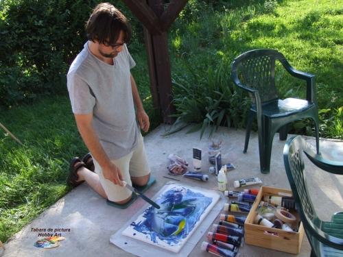 Adrian Stoian in Tabara de pictura Hobby Art