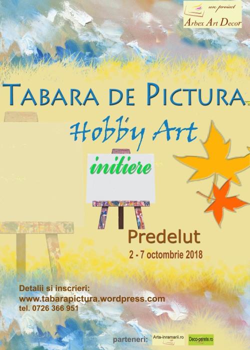Tabara de pictura Hobby Art 2018 pentru incepatori