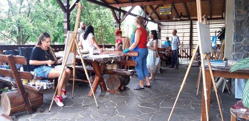 Tabara de pictura Hobby Art editia de vara 2018 la Gura Raului