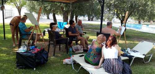 Live art show in Tabara de pictura Hobby Art Thassos 2019