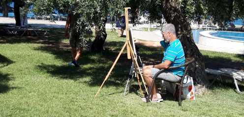 Atelier de pictura in Tabara de pictura Hobby Art Thassos 2020