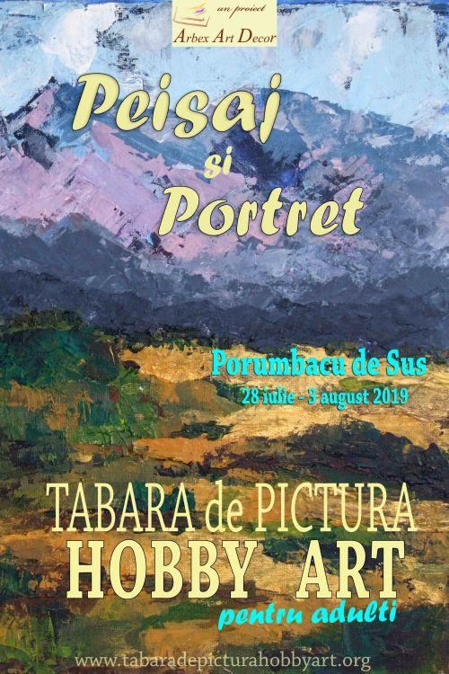 Afis Tabara de pictura Hobby Art editia de vara 2019