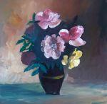 Pictura Flori in Tabara de pictura Hobby Art initiere 2018