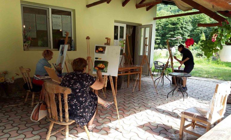 Instantanee din Tabara de pictura Hobby Art pentru incepatori-editia 2019-sesiune practica1