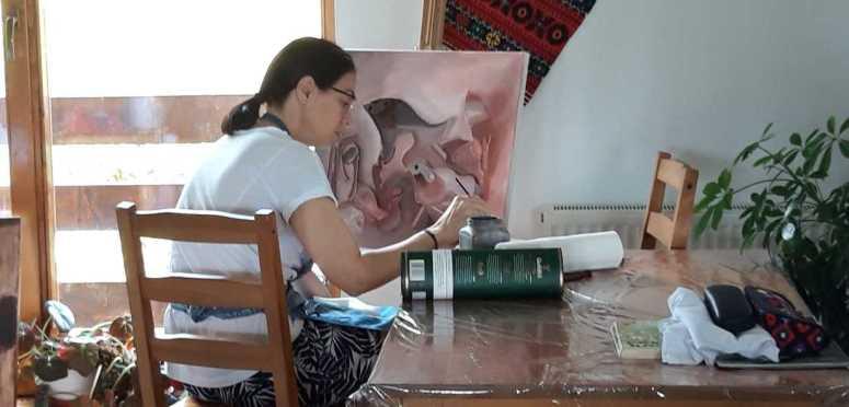 Atelier practic in Tabara de pictura Hobby Art editia de vara 2019