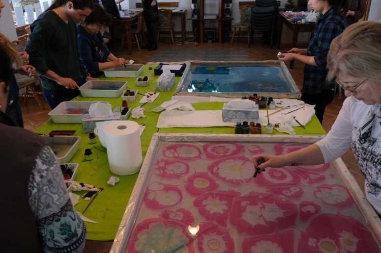 Pictura pe apain Tabara de pictura Hobby Art editia de iarna 2020