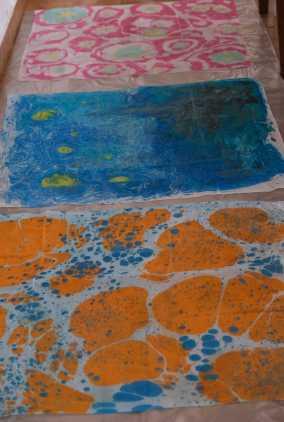 Esrafe pictate prin pictura pe apa in Tabara de pictura Hobby Art - editia de iarna 2020