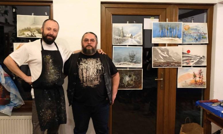 Iulian Agapie in Tabara de pictura Hobby Art - editia de iarna 2020