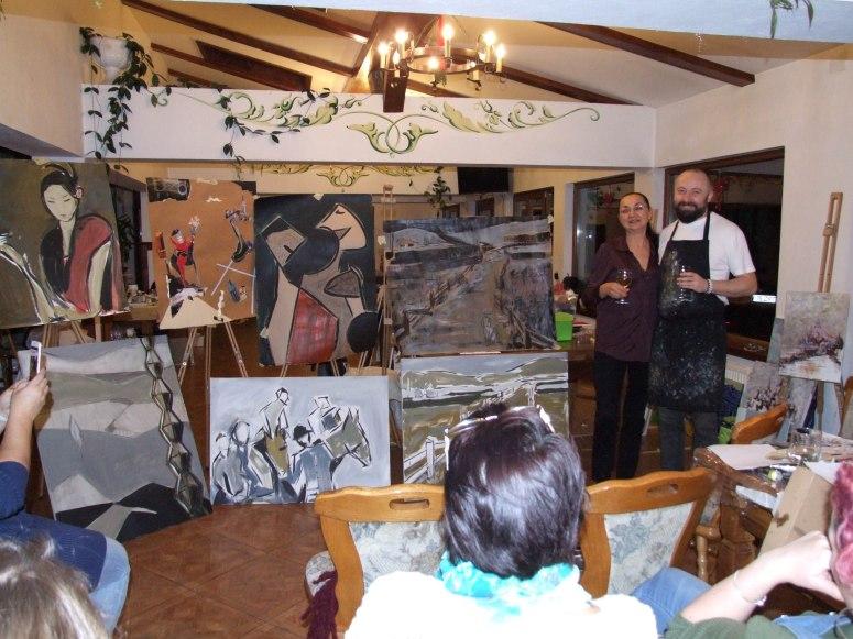 Evaluarea la final de tabara in Tabara de pictura Hobby Art