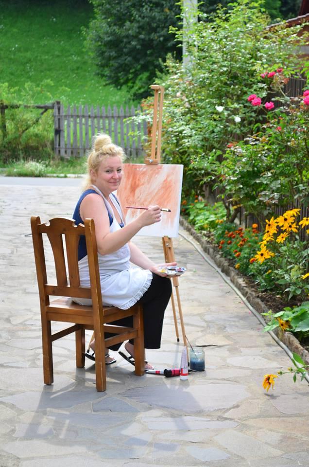 Interviu cu Voica Silvia Potinga pentru Tabara de pictura Hobby Art