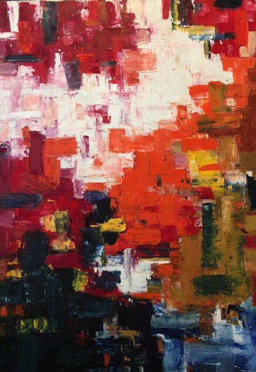 Tangoul culorilor | Ioana Comaromi | ulei panza 70×120 cm