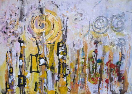 Oda lui Klimt | Maria Carolina Boghian | acril panza 50×70 cm
