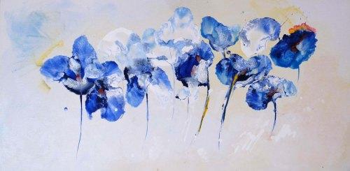 Irisi | Maria Carolina Boghian | acril panza 30×70 cm