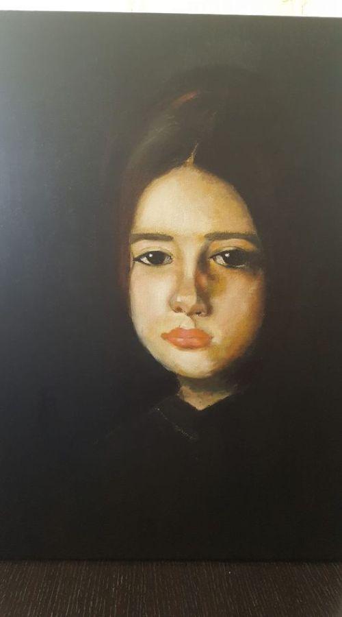 Reproducere dupa N. Grigorescu, Maria Nacu, realizata de Mihaela Baci