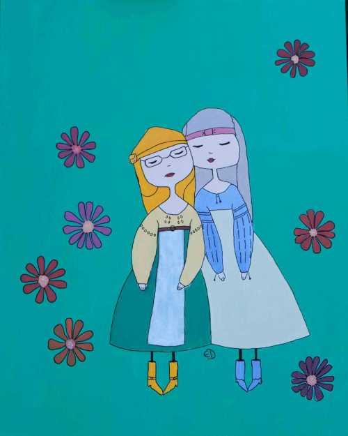 Pictura Elena Demetrescu in Tabara de pictura Hobby Art editia de vara Costesti 2020
