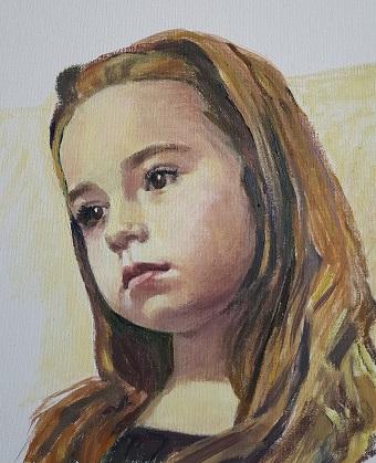 Armina | Adriana Negruti | ulei carton 40×30 cm