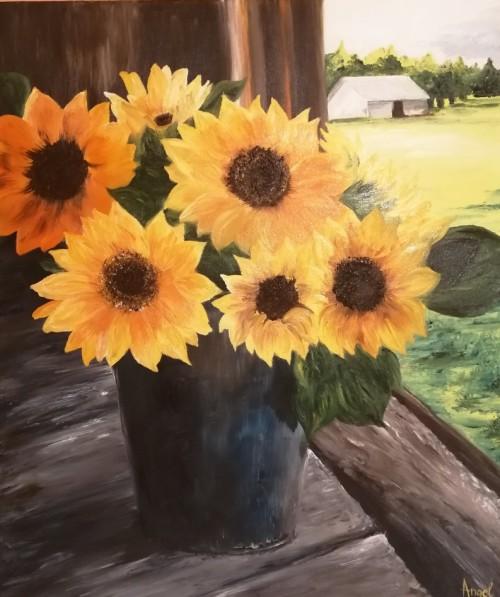 Flori | Angelica Zaharie | ulei panza 50×60 cm