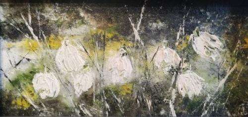 Primavara | Angelica Zaharie | ulei panza 30×15 cm