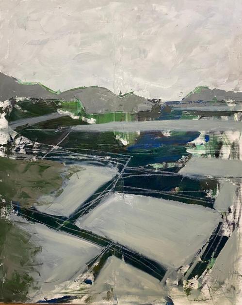 Peisaj | Carmen Tanasescu | ulei panza 80×100 cm