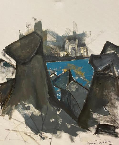 Acasa | Carmen Tanasescu | ulei panza 80×100 cm