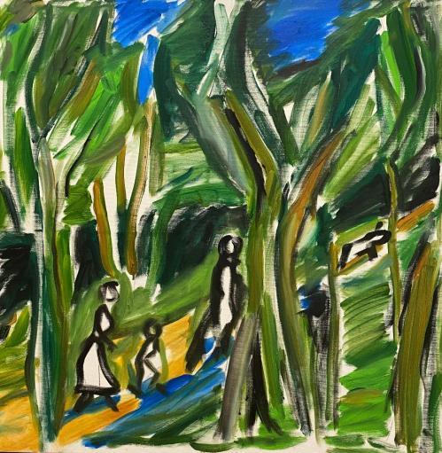 Vacanta | Carmen Tanasescu | ulei panza 80×80 cm