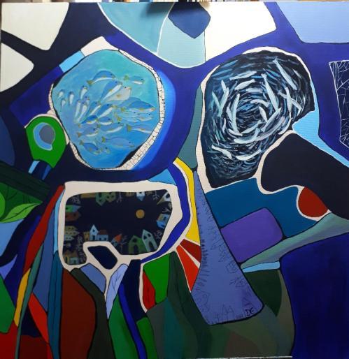 Tumult | Elena Demetrescu | acril panza 100×100 cm