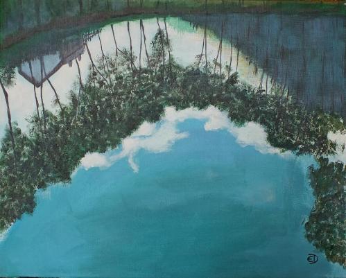 Reflexie | Elena Demetrescu | acril panza 40×50 cm