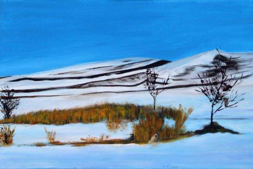 Minunea mea, iarna | Eva Ajtai | acril panza 40×60 cm