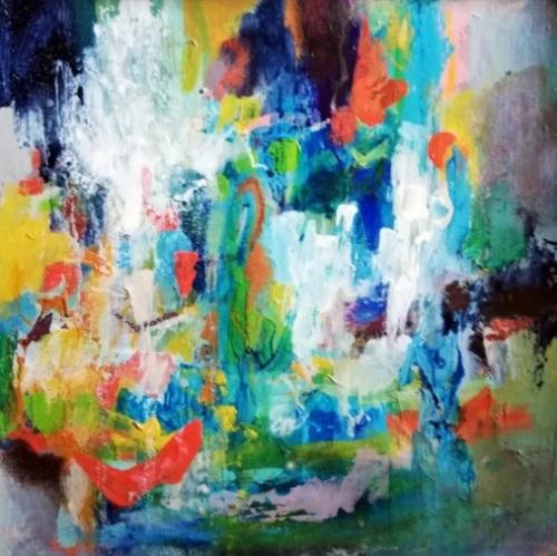 After the rain | Florentina Popescu | acrilic pe hartie Canson 30×30 cm