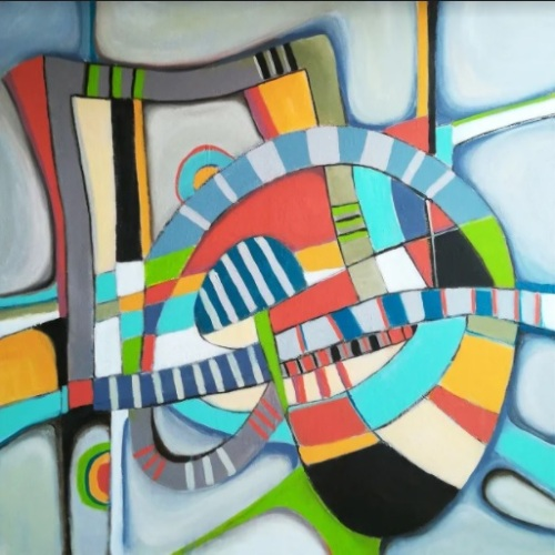 Endless | Florentina Popescu | acril pe panza 80×80 cm