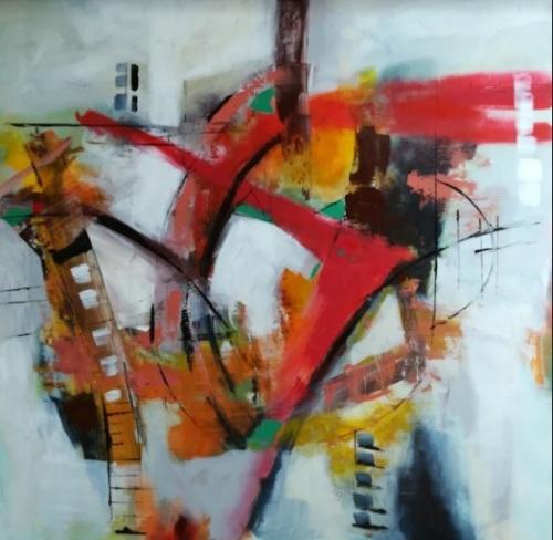 Follow me nou | Florentina Popescu | acril panza 80×80 cm