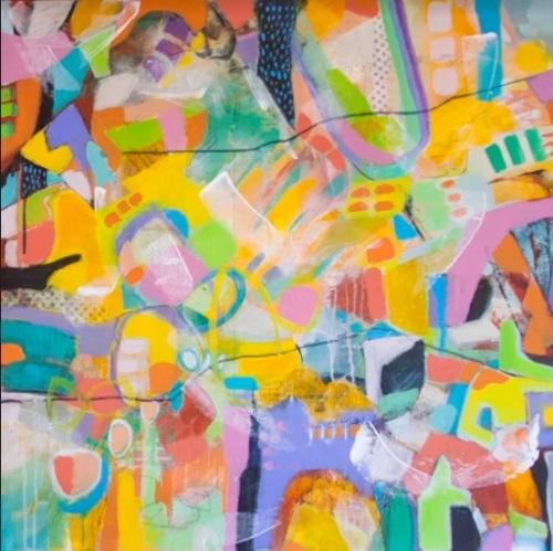 Intuitive II |Florentina Popescu | acril panza 80×80 cm