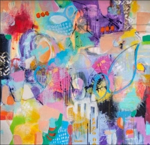 Intuitive | Florentina Popescu | acril panza 80×80 cm