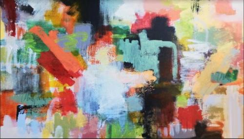 My garden | Florentina Popescu | acril panza 40×60 cm