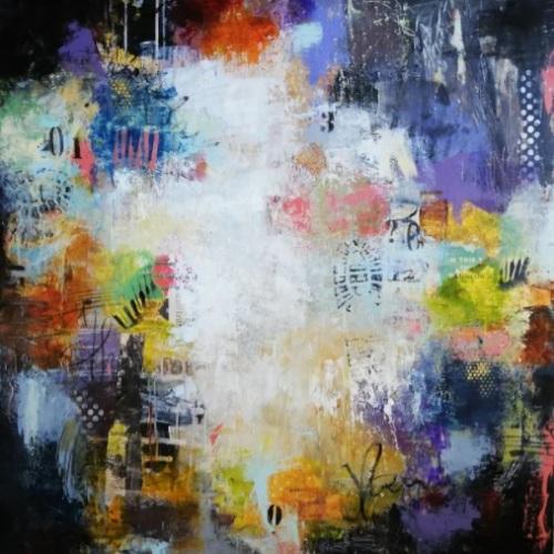 Night life | Florentina Popescu | acril panza 100×100 cm